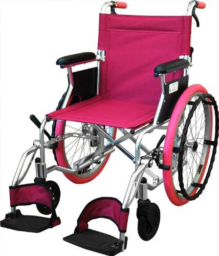 【非課税】島製作所 カラー自走式車椅子Palet  ピンク [自走介助兼用] B00E9P1S3K ピンク ピンク