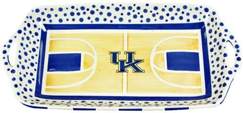 Amazon Com Basketball Court Serving Platter By Magnolia Lane Kentucky Wildcats Platters