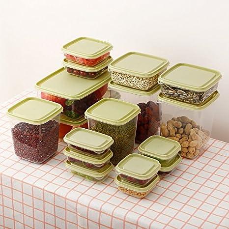 Amazon.com: 17pcs/Set nevera frescos caja de almacenamiento ...