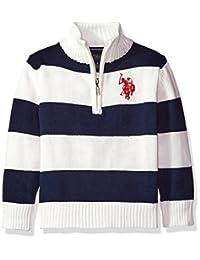 U.S. Polo Assn. Little Boys' Boys 1/4 Zip Striped Sweater