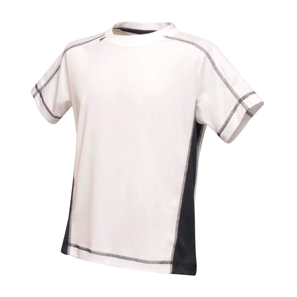 White//Navy Regatta Activewear Kids Beijing T-Shirt 32