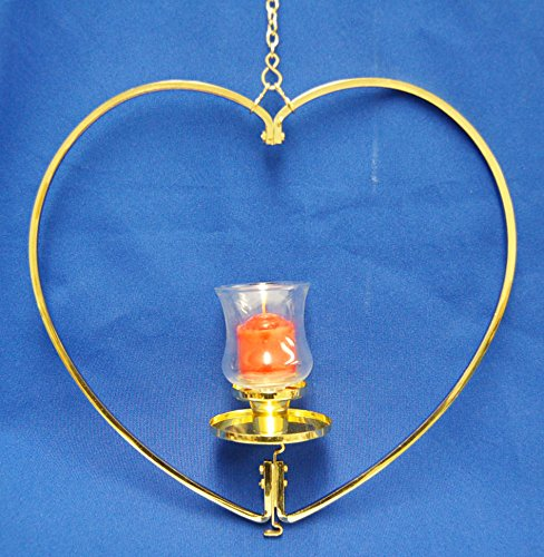 Big Heart - Gold Plated T-Lite Holder