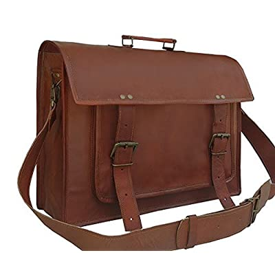 low-cost Gbag (T) 18 Inch Handmade Leather Vintage Messenger Bag for Laptop a08c3e520b892