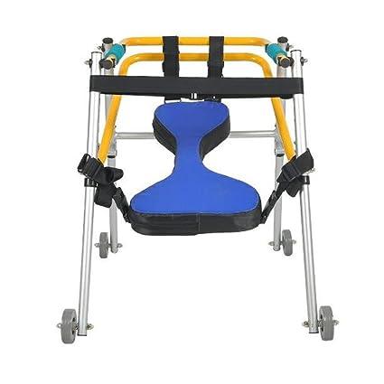 Andador para niños de aluminio | Con ruedas 4 y asiento ...
