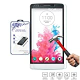 Nacodex® Glass for Lg G3 Stylus D690 Premium Real Tempered Glass Film Screen Protector [Guardian Series] 0.33mm 2.5d Border - ATT Verizon T-mobile, Replacement