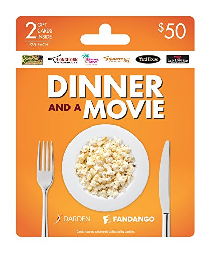 Darden-Fandango Dinner and a Movie, Multipack of 2 - $25 (Card Fandango Gift)