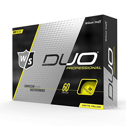 Wilson Staff Duo Pro Golf Ball, Matte Yellow