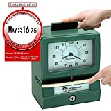 Acroprint Time Recorder Co. Acroprint 125RR4 Heavy Duty Manual Time Recorder for Month, Date, Hour (0-23) and Hundreths Time Clock