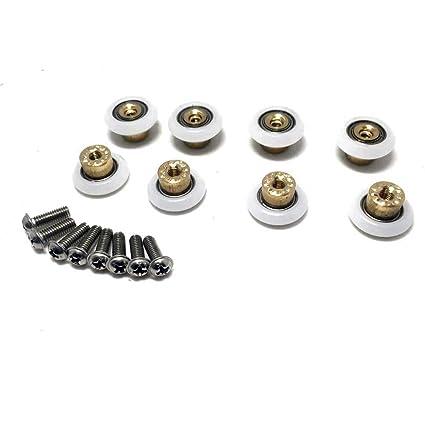8 x para mampara de ducha de repuesto rueda de rodillo Runner diámetro 25 mm,