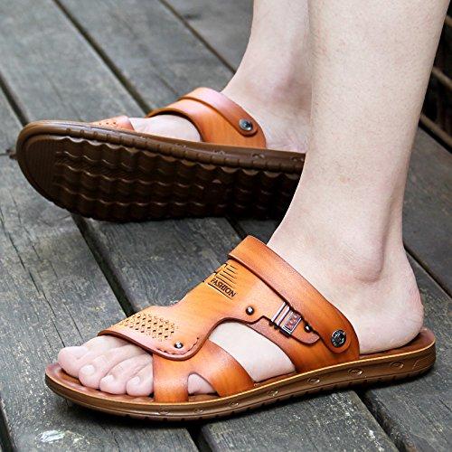 estate 39915 uomo sandali giallo 43 ZHANGJIA CSXdwqd