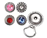 BMC Interchangeable Snap Button Centerpiece Eye Glass Holding Magnetic Brooch