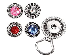 Snap Button Centerpiece Eye Glass Holding Magnetic Brooch