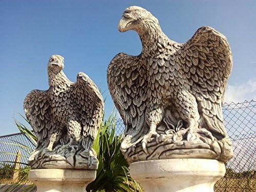 DEGARDEN Pareja de Aguilas de hormigón-Piedra para jardín o Exterior 58cm.: Amazon.es: Jardín