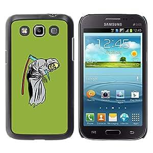 GOODTHINGS Funda Imagen Diseño Carcasa Tapa Trasera Negro Cover Skin Case para Samsung Galaxy Win I8550 I8552 Grand Quattro - muerte guadaña del segador divertido sombrío verde
