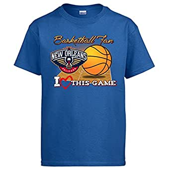 Camiseta NBA New Orleans Pelicans Baloncesto Basketball fan I Love This Game - Azul Royal, 3-4 años