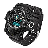 2016 New Brand SANDA Fashion Watch Men G Style Waterproof Sports Military Watches Shock Men's Luxury Analog Quartz Digital Watch (Black)
