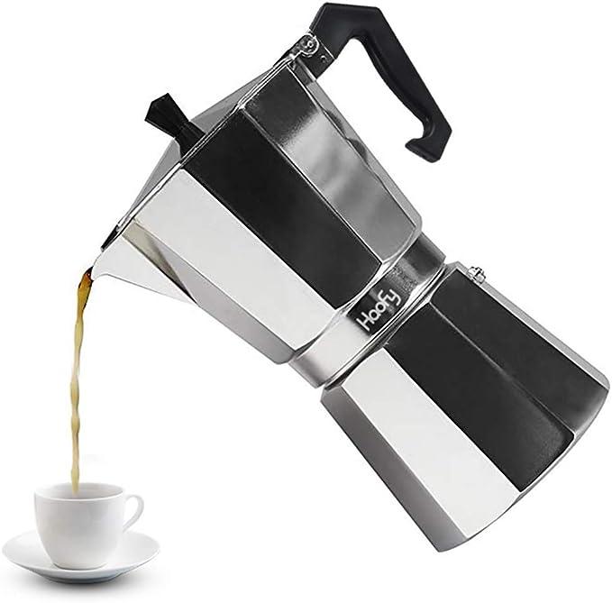 Cafeteras italianas de Acero Inoxidable Cafetera Espresso Moka Express Cafetera de Aluminio, 3 tazas / 6 tazas / 9 ...