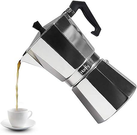 Cafeteras italianas de Acero Inoxidable Cafetera Espresso Moka Express Cafetera de Aluminio, 3 tazas 6 tazas 9 tazas 12 tazas(450ML 9cups)
