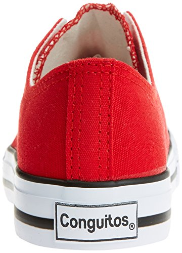 Conguitos Unisex-Kinder Basquet Lona Sneakers Rot (Red)