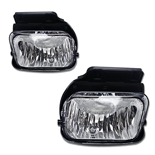 TC Sportline LA-CHSI0301CL OE Style Pair Clear Lens Front Bumper Drving Fog Lights Lamp - For 03-06 Chevy Silverado 1500/1500HD/2500/2500HD/3500