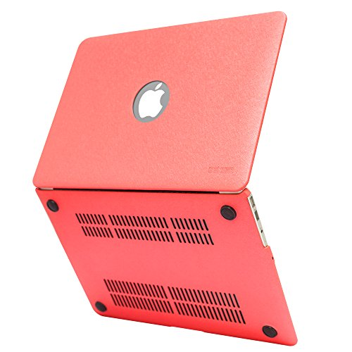 iBenzer Basic Silky Smooth Series Silky Leather Coated - Candy Apple Red Macbook Air Case