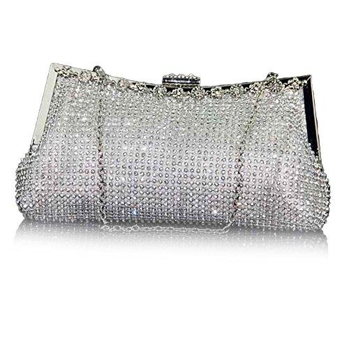 clutch evening Multi femme pour color Pochette UNYU Silver BCxwq8px