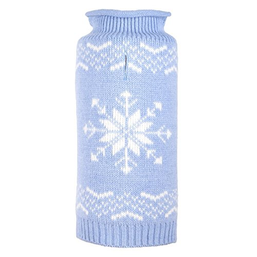 (Snowflake Icy Blue Sweater, Blue, M)