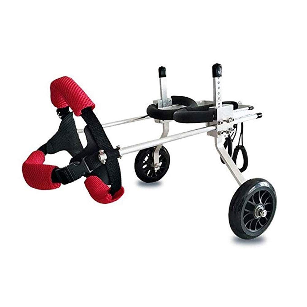 LMCWLY Dog Leg Wheelchair, for The Hind Leg Auxiliary Bracket Dog Wheelchair, Suitable for Large Puppies and Hind Legs Disabled Pet-Assisted Walking, Multi-Size Optional Dog Cart with Wheels by LMCWLY
