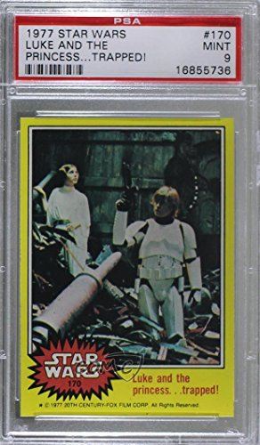 Luke and the Princess. Trapped! Graded PSA 9 MINT (Trading Card) 1977 Topps Star Wars - [Base] #170 by Topps