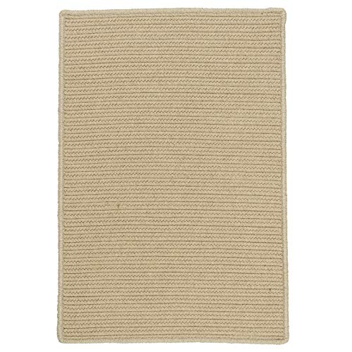 Colonial Mills Sunbrella Solid Indoor/Outdoor Braided Reversible Rug USA MADE - 3' x 5' Alpaca