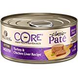 Wellness Core® Natural Grain Free Wet Canned Cat Food, Kitten Turkey & Chicken Liver, 5.5-Ounce Can, Pack of 24