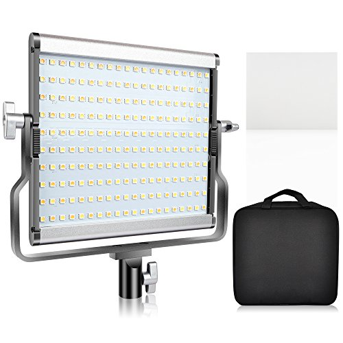 SAMTIAN LED Video Light Bi-Color Studio Lights Dimmable 200 Photography Lighting Kit with LCD Display, U Bracket, 79 Inches Light Stand for Video Professional Shooting, Studio Photography by SAMTIAN
