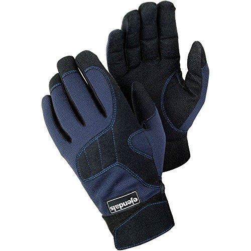 Ejendals Handschuh Tegera 320 aus Synthetikleder, Größe 9, 1 Stück, schwarz / blau, 320-9