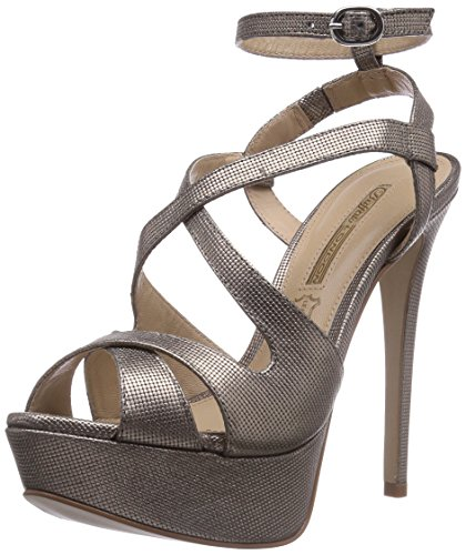 Buffalo London ZS 4107-14 MICRO DOTS Damen Knöchelriemchen Sandalen Gold (PEWTER 31)