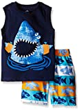 Kids Headquarters Little Boys' 2 Piece Set- Graphic Tank Top with Swim Short