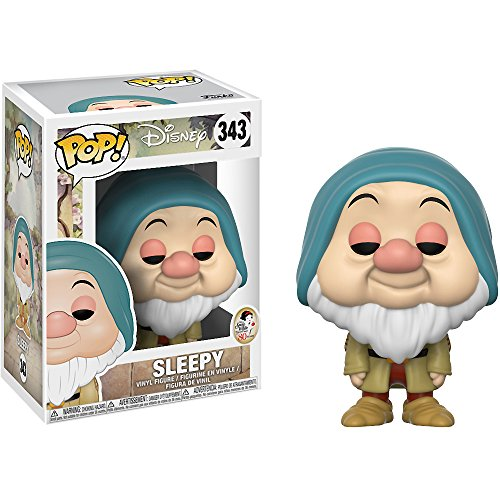 Funko Sleepy: Disney - Snow White x POP! Disney Vinyl Figure & 1 POP! Compatible PET Plastic Graphical Protector Bundle [#343 / 21724 - B] ()