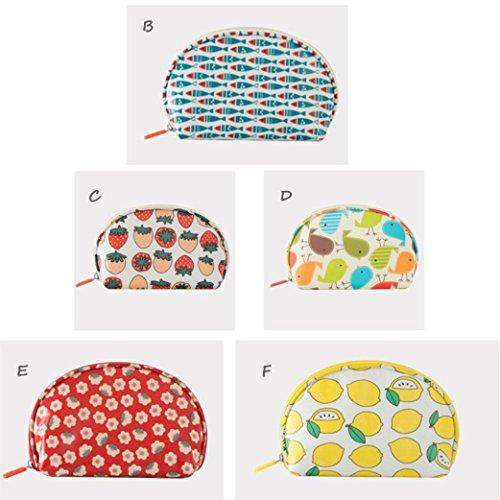 BZLine® Frauen kosmetische Tasche Multifunktions Travel Make Bag Portemonnaie Münzen (E) A q321lzD3I