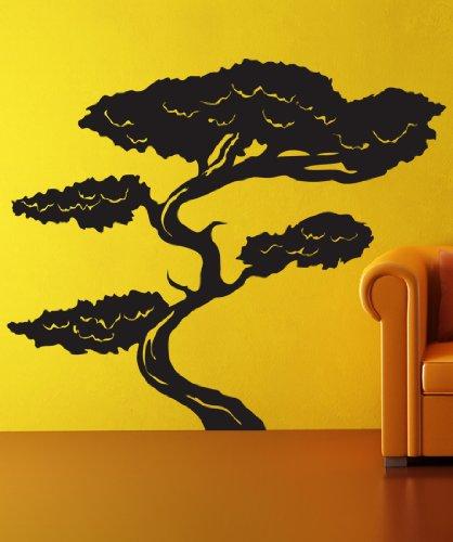 Vinyl Wall Decal Sticker Tall Asian Bonsai Tree GFoster152B