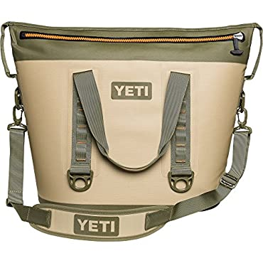YETI Hopper Two 40 Cooler (Field Tan / Blaze Orange)
