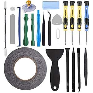 AUTOPkio 23 in 1 Repair Tool Set Kit de herramientas para iPhone, smartphone, multimedia u otros pequeños electrodomésticos