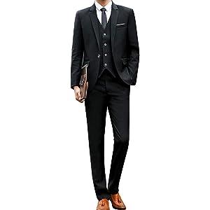 [chorbmark] (XS, ブラック)セットアップ スーツ スリーピース スリムタイプ スーツケース スーツカバー ベルト ドレスシューズ ブラシ スーツハンガー 持ち運び 面接 アパレル 肩パット ずぼん パンツ カフス スキニー
