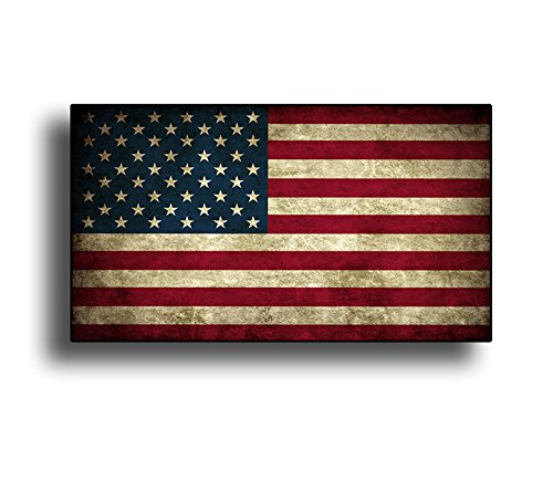 American Flag Window (Rustic USA American State Vinyl Decal Die Cut Flag Sticker - Old Merica)
