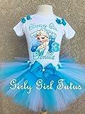 Frozen Elsa and Birthday Tutu Outfit Set