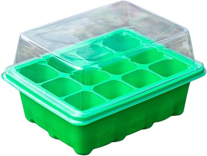 Loch Samen wachsen Box Seeding Box Halter Klonen einf/ügen Vermehrung Kindergarten T/öpfe Box Pflanzen Box 12 Zellen Samen Grow Box