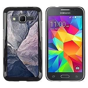 TopCaseStore / la caja del caucho duro de la cubierta de protección de la piel - Mountain Grey Texture Cliff Climbing - Samsung Galaxy Core Prime SM-G360