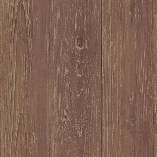 Brewster Chesapeake CTR64221 Mapleton Brick Faux Wood Tex...