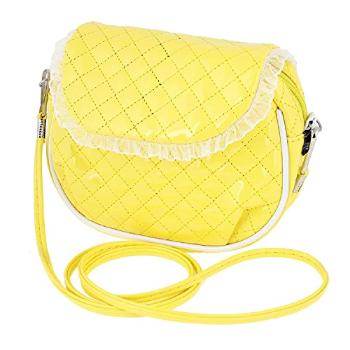 DealMux Ladies 128cm Lang Strap genähtes Grid Print Nylon Futter Schulter Crossbody-Tasche Schwarz KdJ3Mg