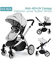Hot Mom Multi 2 in 1 Pushchair Travel System with Stroller 2018 New Design