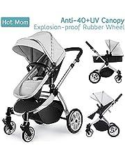 Chariot poussette Hot Mom 2018 combine avec nacelle et siège enfant 889