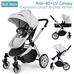 Now, when you're out and about, it's not just as a couple but a family. So it's all the more important that the pushchair is a perfect fit with your everyday family and personal needs. Hot Mom 2 in 1 stroller is agile, lightweight, man...